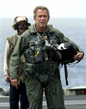 Bush_flightsuit